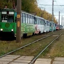 Несколько трамваев столкнулись в Челнах: есть пострадавшие