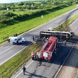 Суд продлил арест водителю автобуса, попавшего в ДТП с 14 погибшими
