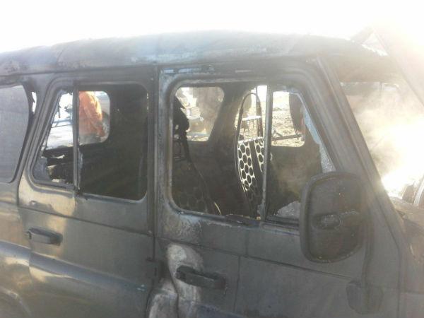 В Камском Устье сожгли два «УАЗа» (ФОТО)