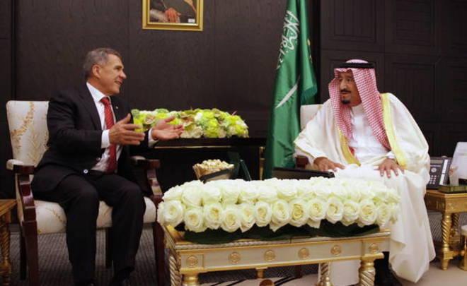 Минниханов рассказал, о чем попросил короля Саудовской Аравии