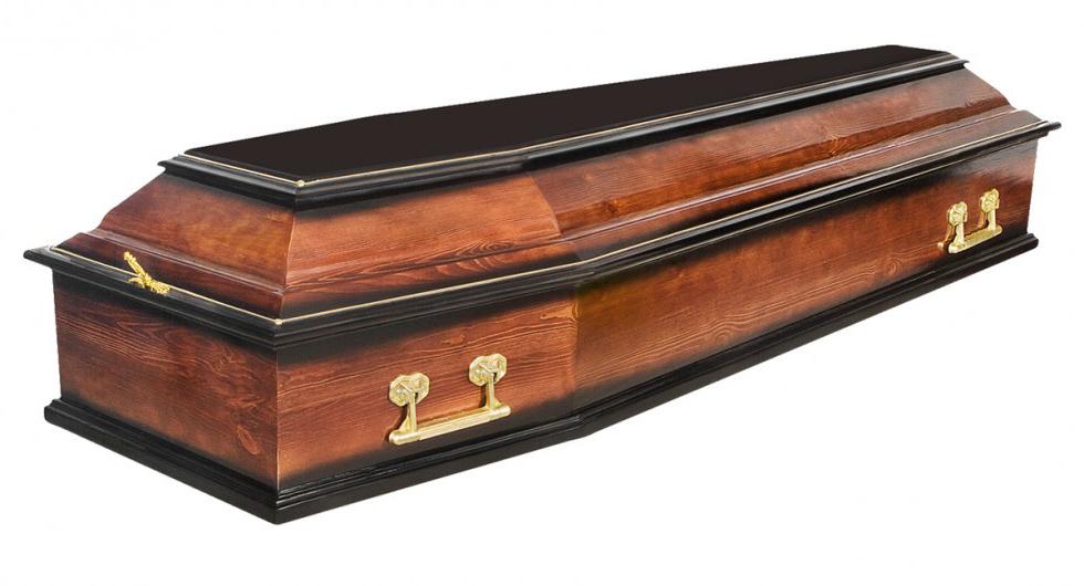 Полированный гроб для прощания с вашими близкими