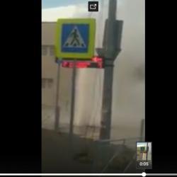 В Казани забил «гейзер» высотой в несколько этажей (ВИДЕО)