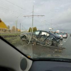 В Казани разбился водитель «БМВ», несшийся с огромной скоростью (ФОТО)