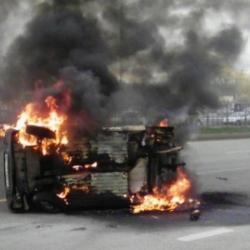 Водитель сгоревшей «Оки» сбежал с места ДТП, а потом сам обратился за помощью в Татарстане