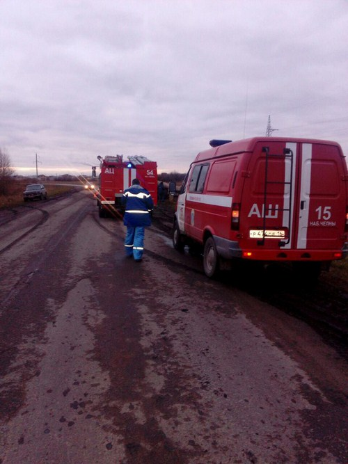 В Татарстане перевернулся 16-тонник с дизтопливом (ФОТО)
