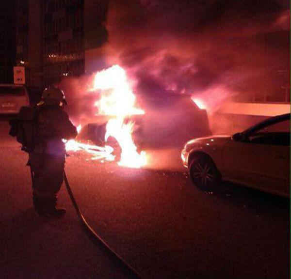 Сгоревшая в Татарстане дорогая иномарка была подожжена (ВИДЕО)