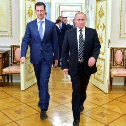 Появилось ФОТО картины, подаренной Путину Асадом