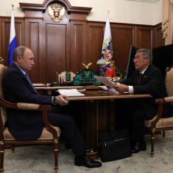 ВИДЕО встречи Путина с Миннихановым