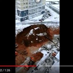 Новостройка жилого комплекса в Челнах едва не провалилась под землю (ВИДЕО)