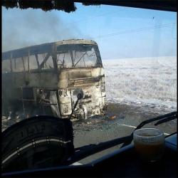 Сгоревший в Казахстане автобус, в котором погибло 52 человека, ехал в Казань (ФОТО)