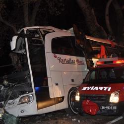 В Турции разбился туристический автобус, погибло не менее 11 человек
