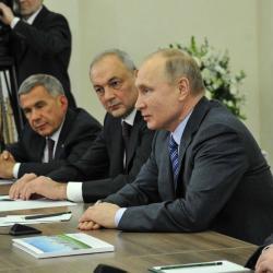Владимир Путин в Казани встретился с мусульманским духовенством России (ФОТО)