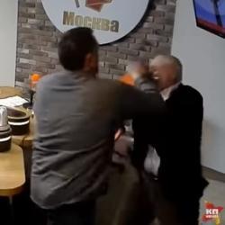 Николай Сванидзе и Максим Шевченко подрались во время прямого эфира (ВИДЕО)