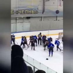 Челнинские хоккеисты избили судью во время полуфинала НХЛ (ВИДЕО)