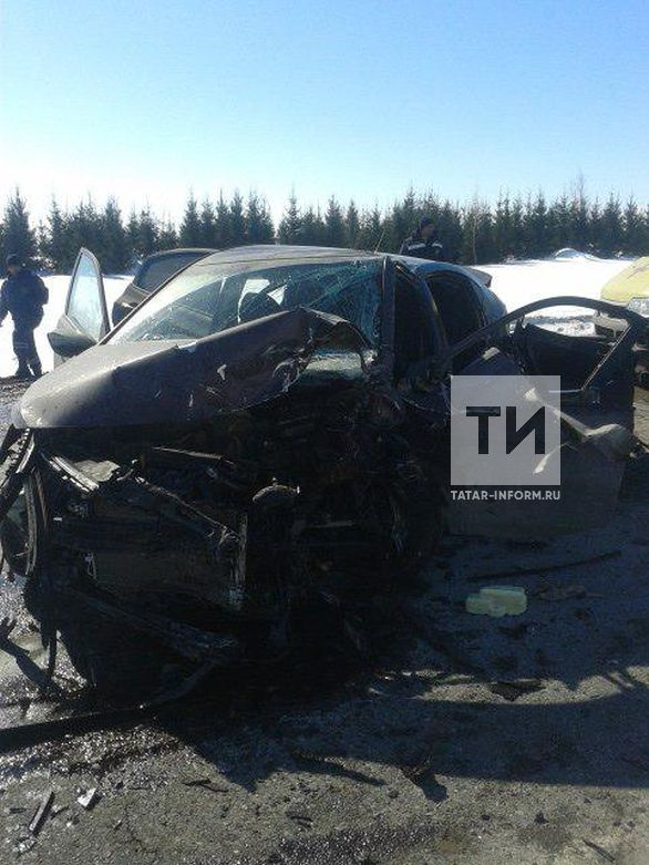 Столкновение иномарок в Тукаевском районе стало смертельным для пассажира Hyundai (ФОТО)