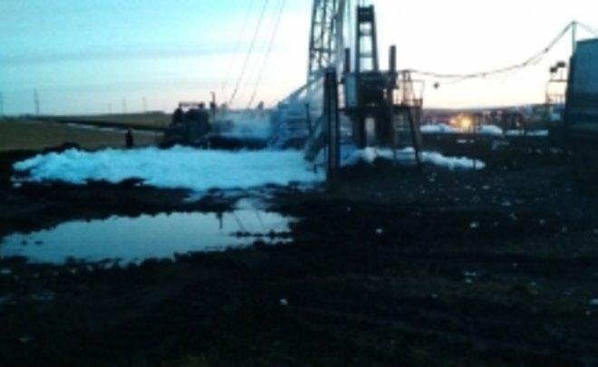 В Татарстане ночью произошел пожар на нефтяной скважине