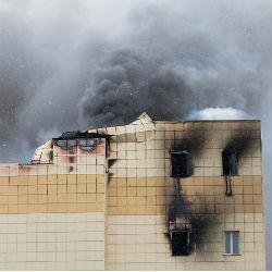 Выпрыгнувший из окна при пожаре в