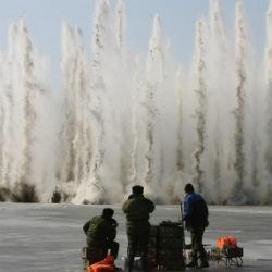 Появилось ВИДЕО взрывных работ в Кайбицком районе