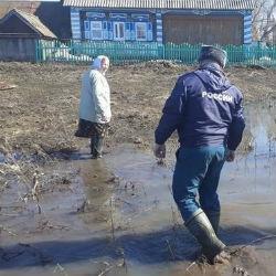 Из-за подтопления в деревню Татарстана продукты доставляли на болотоходе