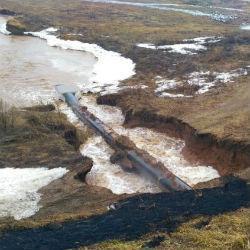 В Рыбно-Слободском районе РТ перекрыта дорога возле аварийной плотины