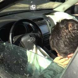В Казани водитель внедорожника устроил ДТП с 5 машинами и уснул за рулем