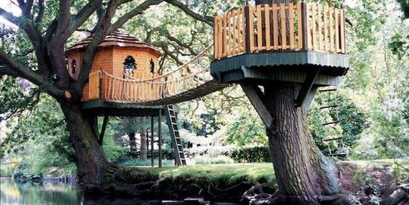 Как построить безопасный детский домик на дереве?