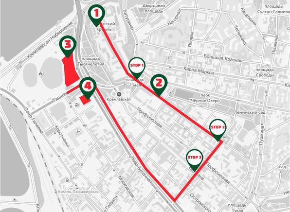 Стал известен маршрут торжественного парада «Ак Барса» (КАРТА)