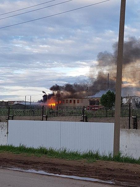 В исправительной колонии Альметьевска крупный пожар (ФОТО, ВИДЕО)
