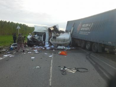 В Татарстане лоб в лоб столкнулись два грузовика. Один человек погиб (ФОТО)