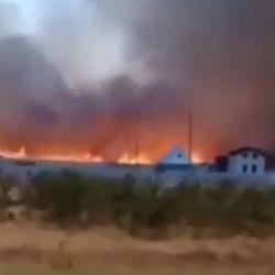 Очевидцы сняли на ВИДЕО горящий мусор в деревне Борок Нижнекамского района РТ