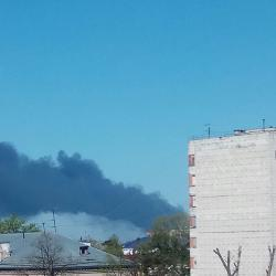 В результате пожара на ЖБИ-3 пострадал один человек