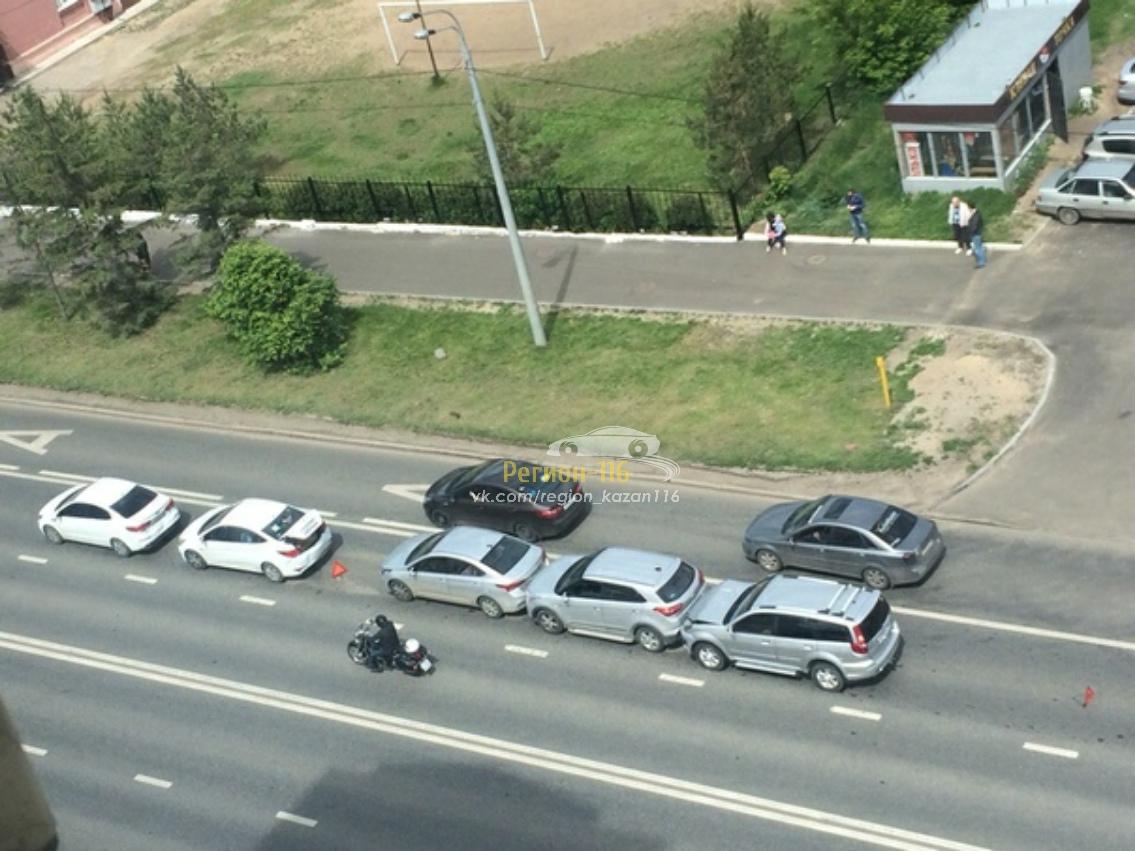 В Казани столкнулись пять автомобилей (ФОТО)