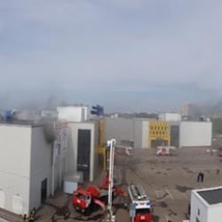 Площадь пожара в ТЦ «Порт» увеличилась до 200 кв. метров (ФОТО, ВИДЕО)