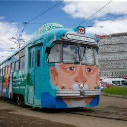 В Казани официально запустили экскурсионный ретро-трамвай (ВИДЕО)