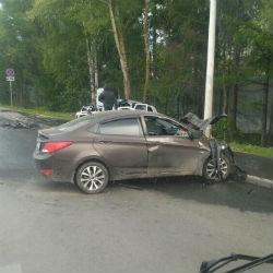 Страшная авария в казанском поселке Салмачи попала в объектив ВИДЕОкамеры