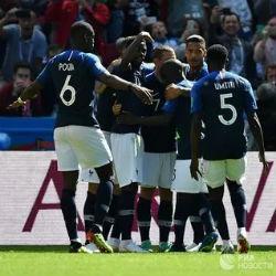 Сборная Франции победила команду Австралии в матче ЧМ-2018