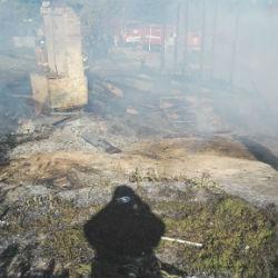 На пожаре в Зеленодольском районе удалось отстоять 9 домов
