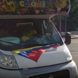 Болельщики из Колумбии попал в аварию в Казани (ВИДЕО)