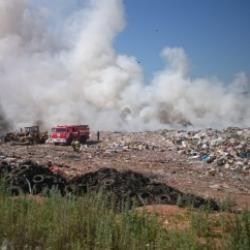 В Лениногорском районе загорелся мусор на полигоне ТБО (ФОТО)