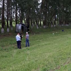 В Буинском районе РТ иномарка вылетела с трассы в лесополосу