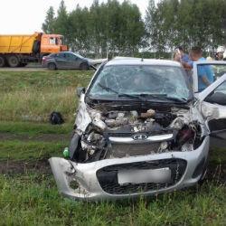 В Чистопольском районе в вылетевшей в кювет «Калине» пострадал пятимесячный малыш