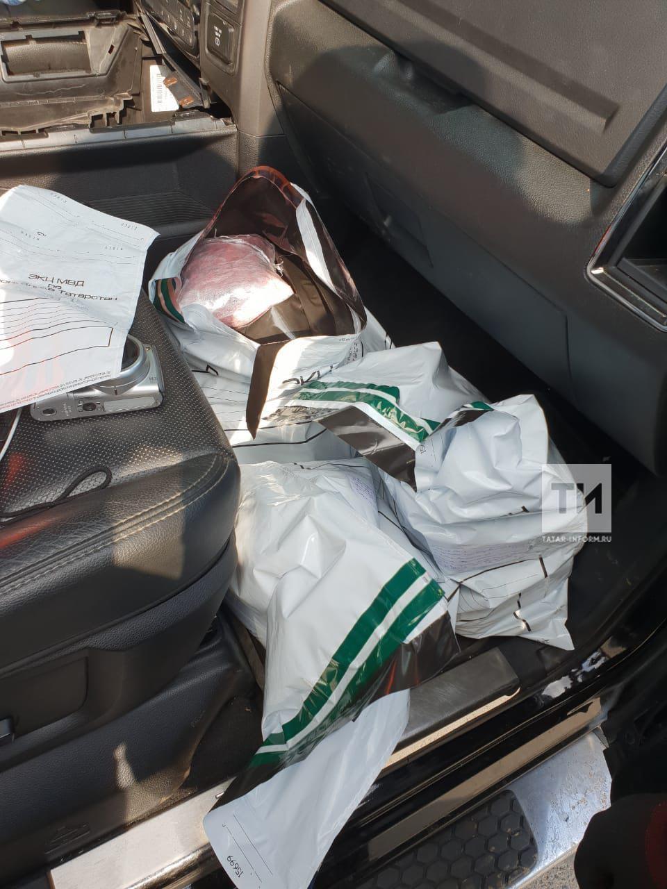 В Казани на переправе в легковом автомобиле обнаружили 120 килограммов наркотиков (ФОТО)