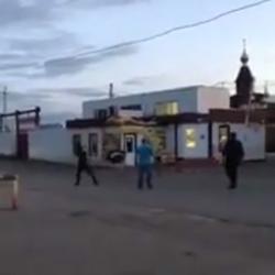 Опубликовано ВИДЕО погони за сбежавшим страусом в Нижнекамске