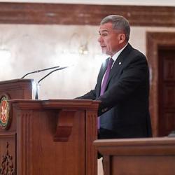 Президент Татарстана обратился к Госсовету РТ с самым длинным посланием
