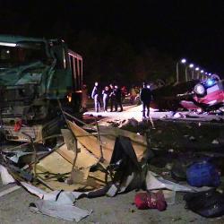 На трассе М7 микроавтобус столкнулся с самосвалом: погибли более 10 человек (ВИДЕО)