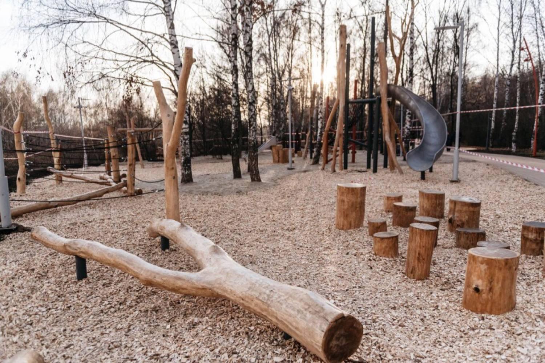 От «Похода пионера» до воркаута. ФОТОРЕПОРТАЖ из обновленного парка «Комсомолец»