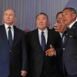 Рустам Минниханов презентовал Путину и Назарбаеву туристический потенциал Татарстана