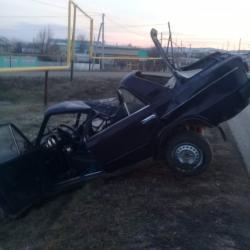 В Сарманово из-за кота водитель «Жигулей» разбил свое авто