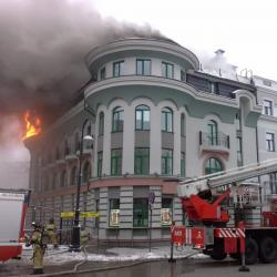 Стала известна причина пожара в центре Казани