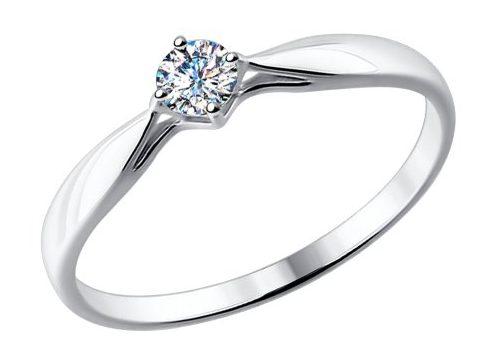 Помолвочные кольца из белого золота c бриллиантами